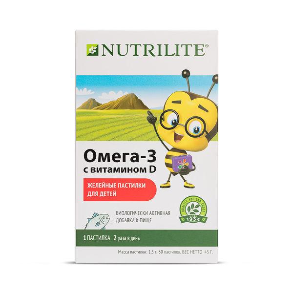 NUTRILITE™ Омега-3 с витамином D детские желейные пастилки, 30 шт.