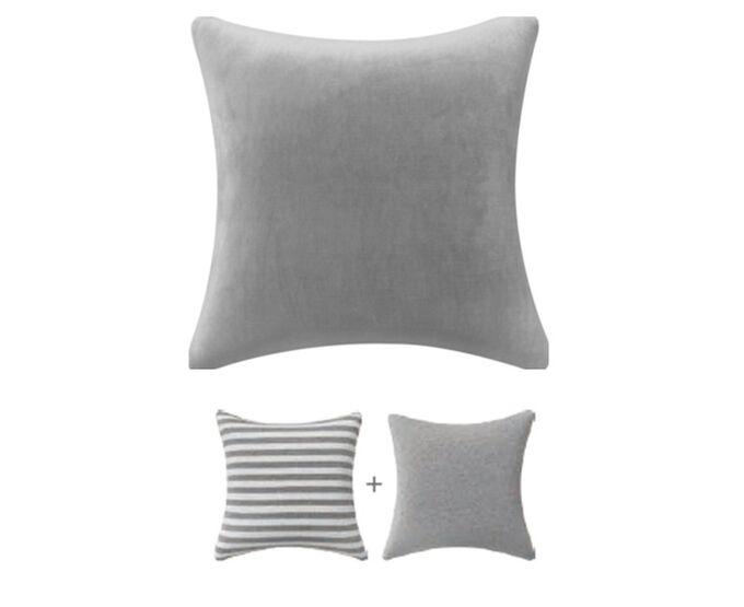 Подушка декоративная 38х38см, с эффектом памяти, цв. серый 2169-2 ВЭД