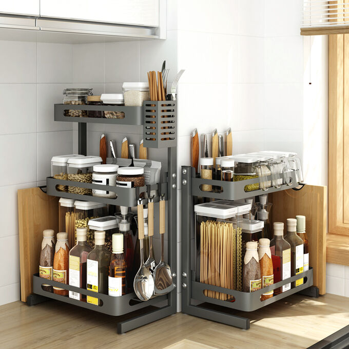 Полочка для кухни Kitchen Rack / 3-х ярусная