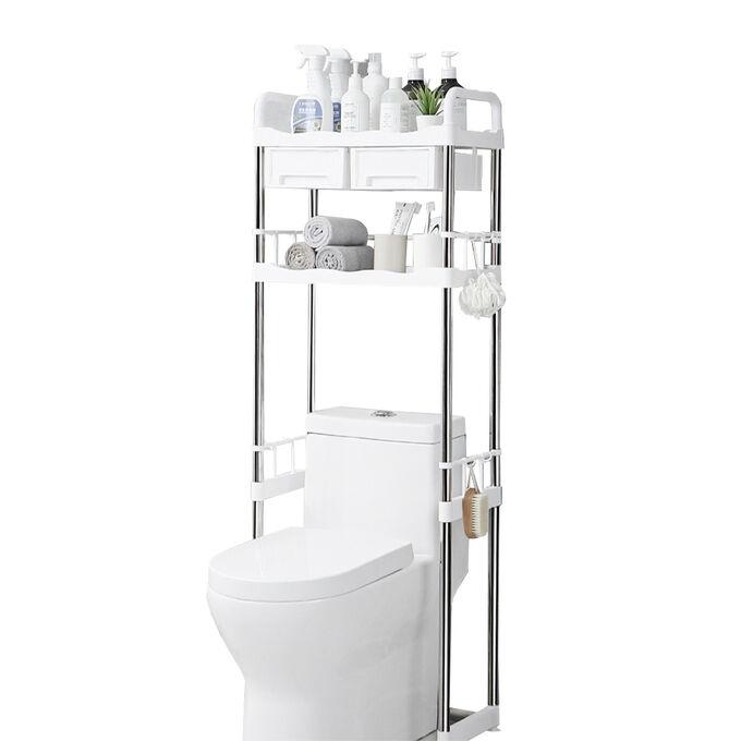 Полочка - стеллаж для ванной комнаты / 2-х ярусная