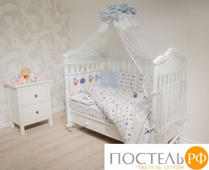 Набор в детскую кровать Lime Time Baby Time рис. Подводный мир 15 предметов