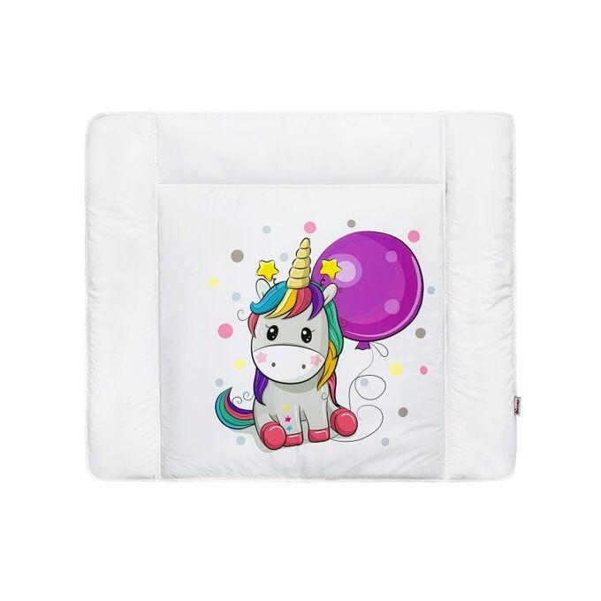 "Матрас для пеленания принт ""Unicorn & Balloon"""