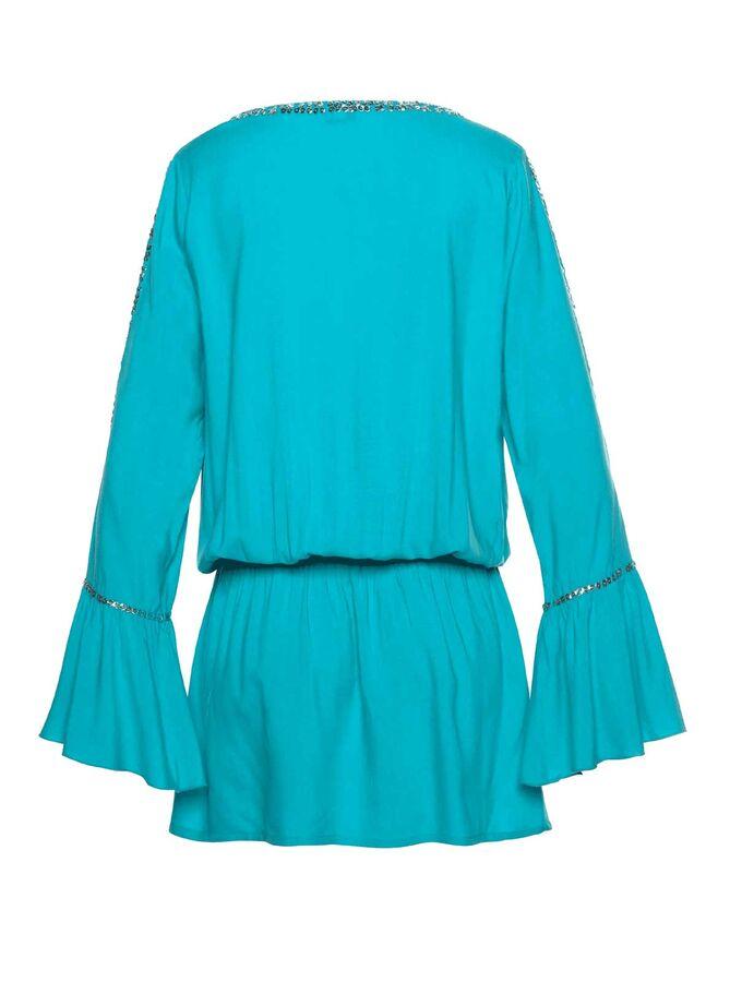Пляжное платье, бирюзовое