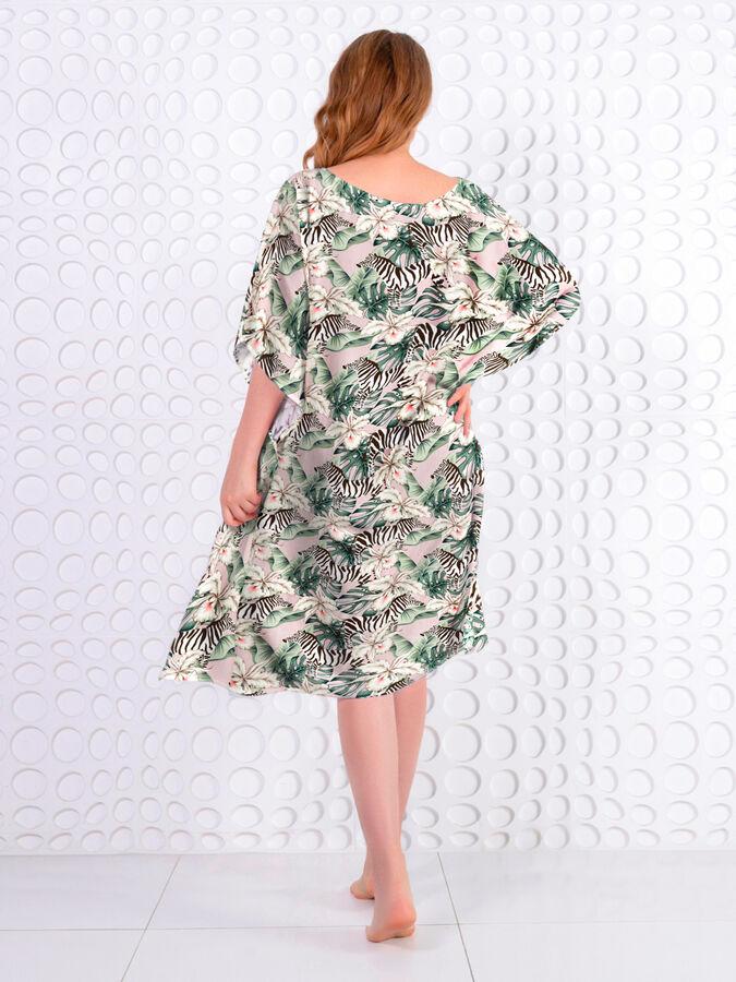 Легкое пляжное платье из принтованного вискозного полотна
