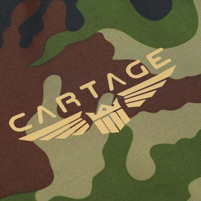 Термосумка Cartage Т-01, зеленый камуфляж, 17-18 литров, 35х21х24 см