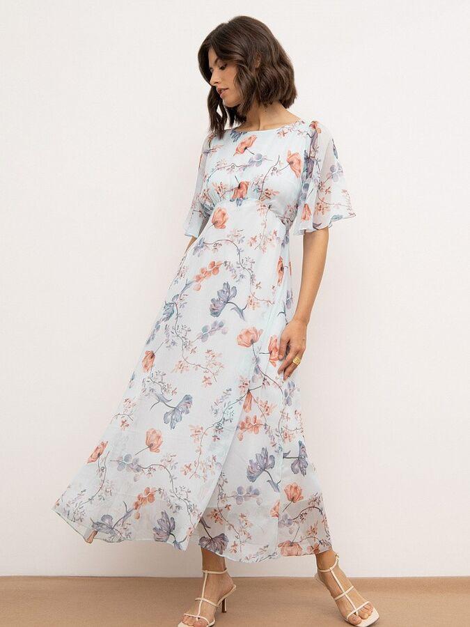 Платье с цветочным принтом PL1223/aquarelle