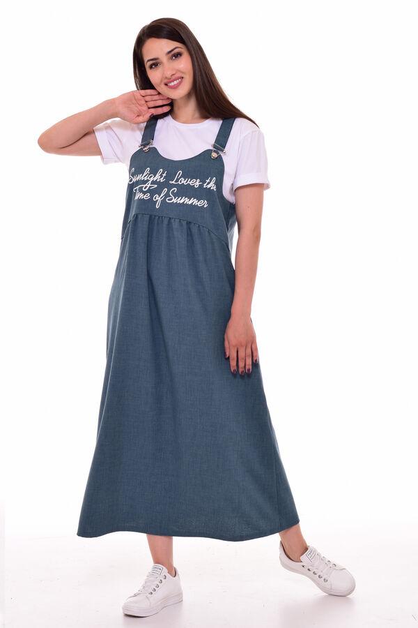 *Сарафан женский Ф-4-07п (зеленая пастель)