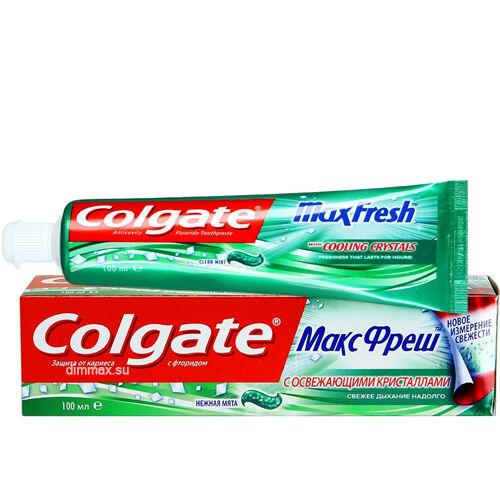 Зубная паста Colgate Макс Фреш Нежная мята 100мл.