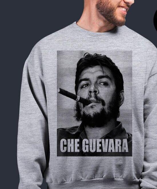 Свитшот Че Гевара, цвет серый меланж
