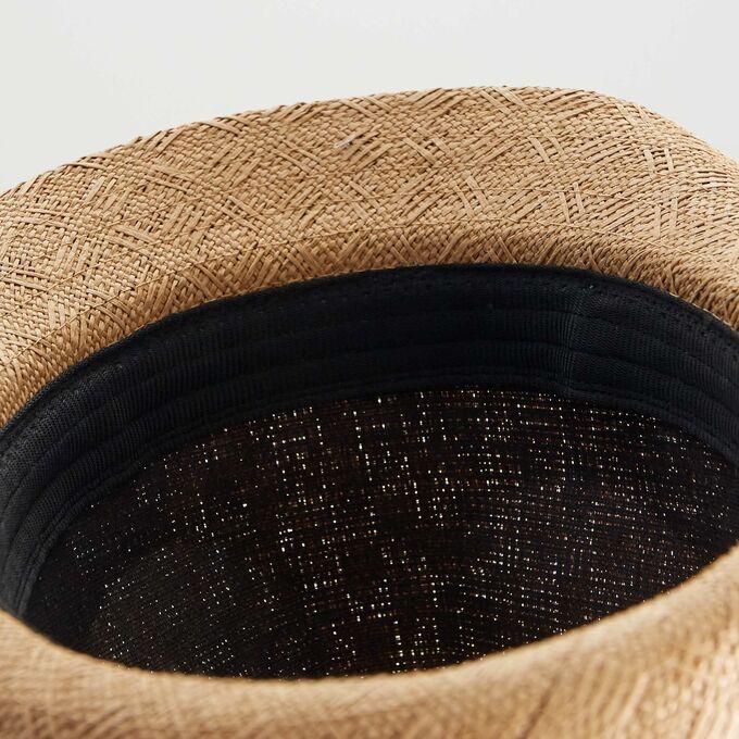 Соломенная шляпа - бежевый