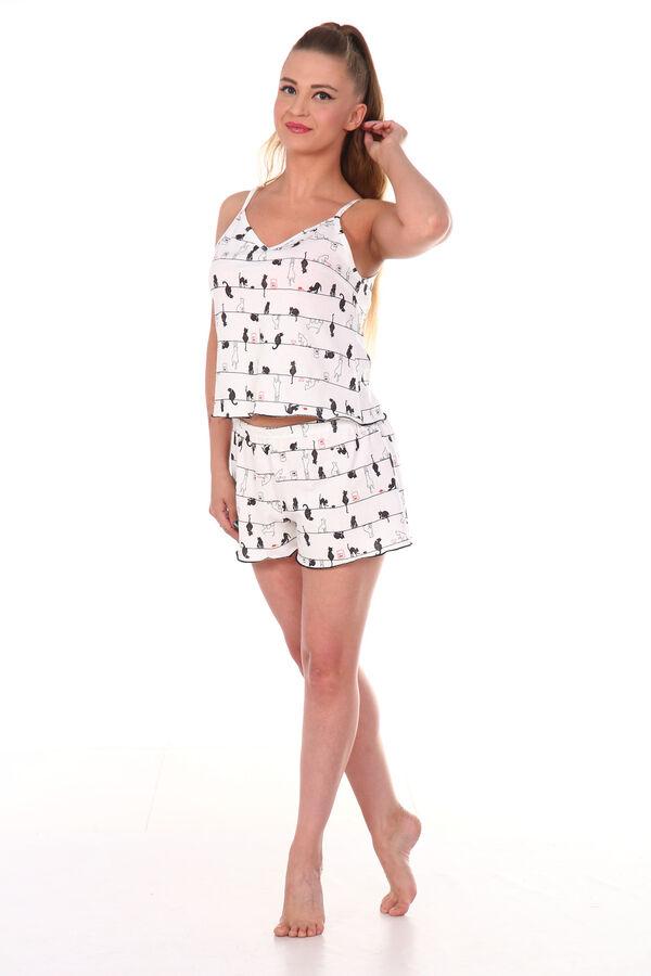 Пижама женская, молочный