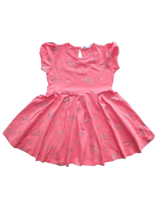 Платье для девочки OP372 коралловый