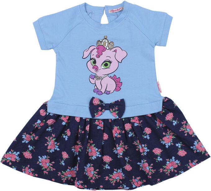 Платье для девочки BK997P серый меланж