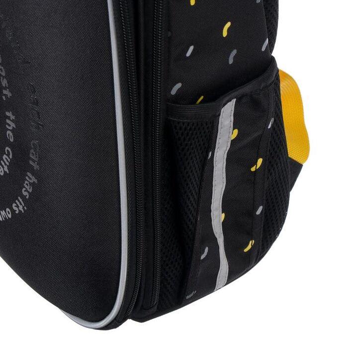 Рюкзак каркасный, Hatber, Ergonomic light ,38 х 29 х 15, EVA-материал, с термосумкой, «Сытый кот»