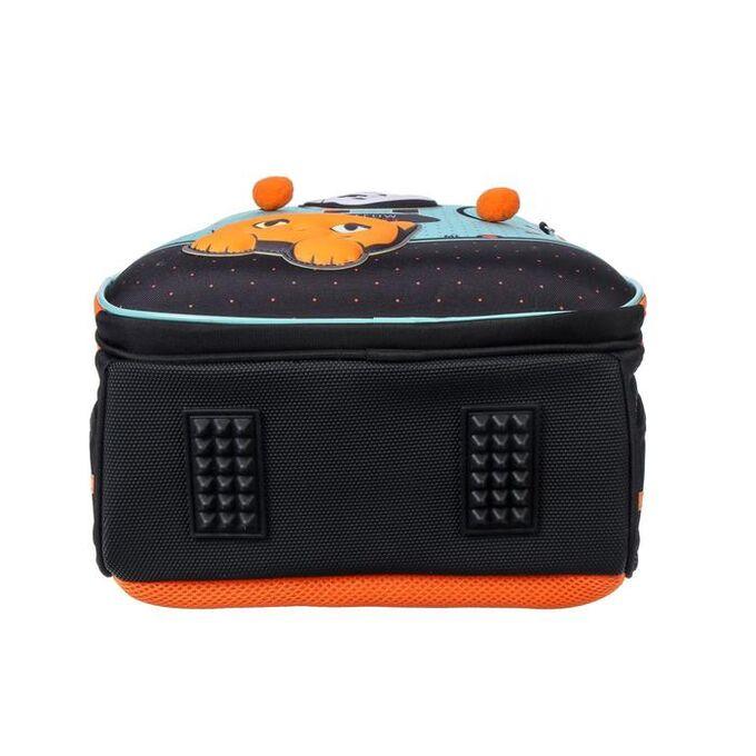 Рюкзак каркасный, Hatber, Ergonomic light ,38 х 29 х 15, EVA-материал, с термосумкой, «Мяу стори»