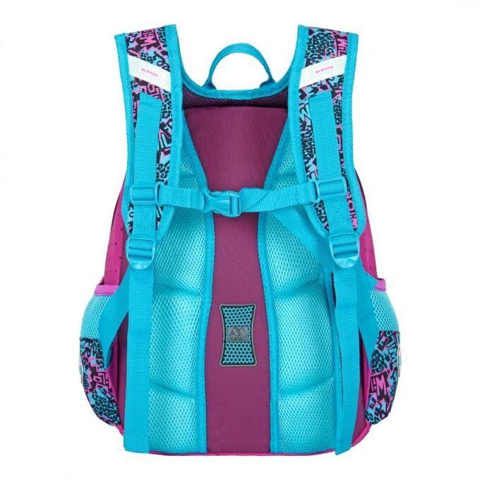 Рюкзак Конструкция отвечает всем требованиям безопасности и эргономики: высокая жесткость, анатомическая спинка, амортизирующие лямки. При разработке рюкзаков этой серии были использованы облегченные