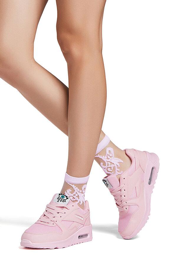 """Набор 2 пары носков носки с вышивкой носки летние носки капроновые носки с узором """"Цветочная пыльца"""" #288156"""