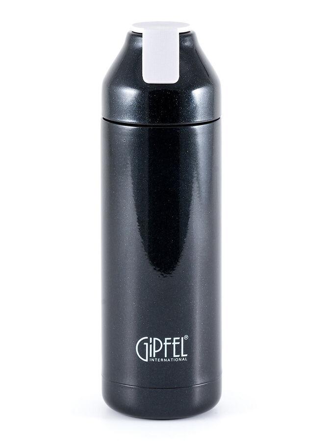 8187 GIPFEL Термос вакуумный PLAZMA 400мл. Материал: нержавеющая сталь 18/8. Цвет: черный