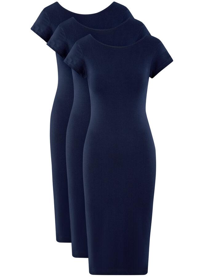 Платье миди (комплект из 3 штук)
