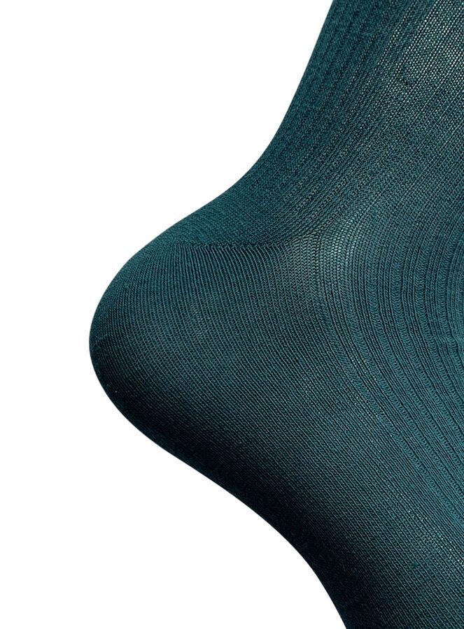 Носки вязаные в резинку