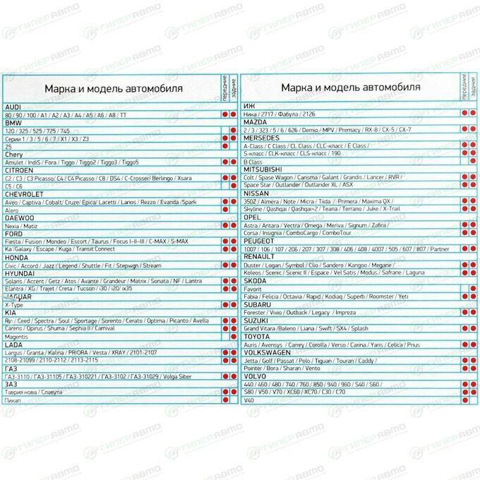 Брызговики универсальные АЕР, термопластичный эластомер, белые, 2шт, арт. БУ 02 00 01