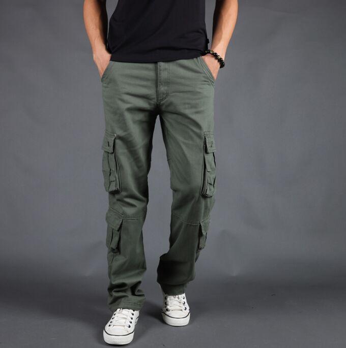Штаны с несколькими карманами. Хлопок 100%.