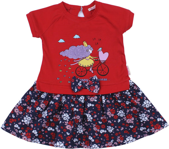 Платье для девочки красный