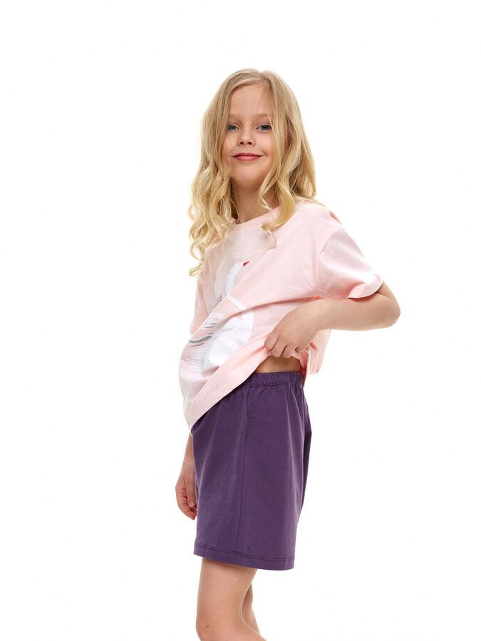 Костюм для девочки(футболка, шорты)