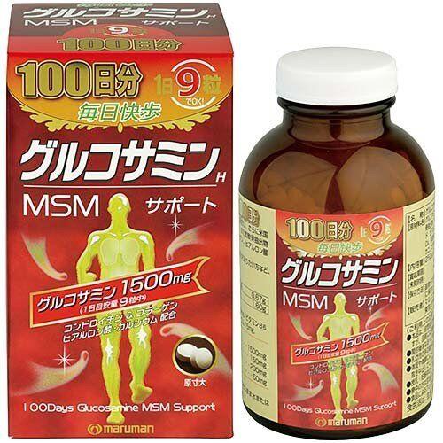 Глюкозамин 1500мг+Хондроитин + МСМ+витамин С и витамины группы В , Маруман на 100 дней