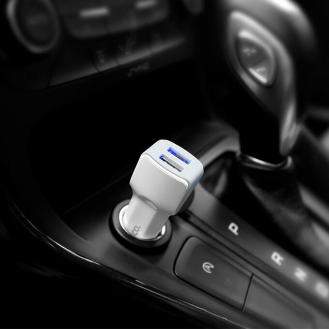 Автомобильное зарядное устройство Hoco Z23 / 2 USB, 2.4A,12W