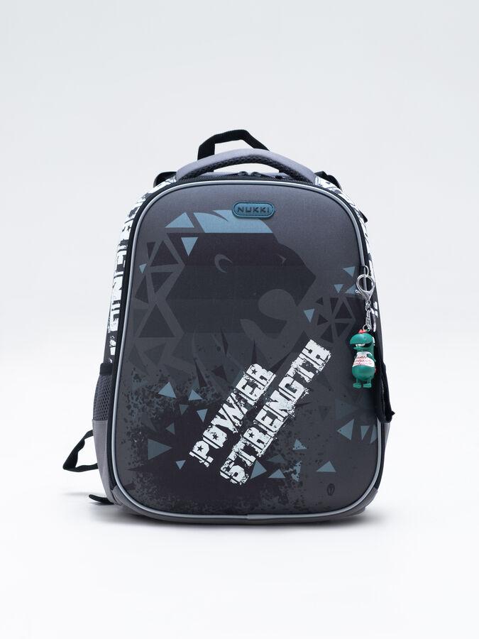 Школьный ранец NUK21-B6001-01 черный; серый мальчики