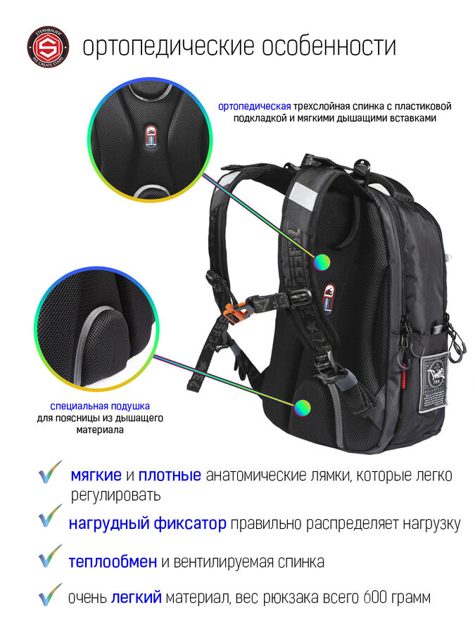 20911009 Ортопедический рюкзак Sternbauer/40х27х18 см