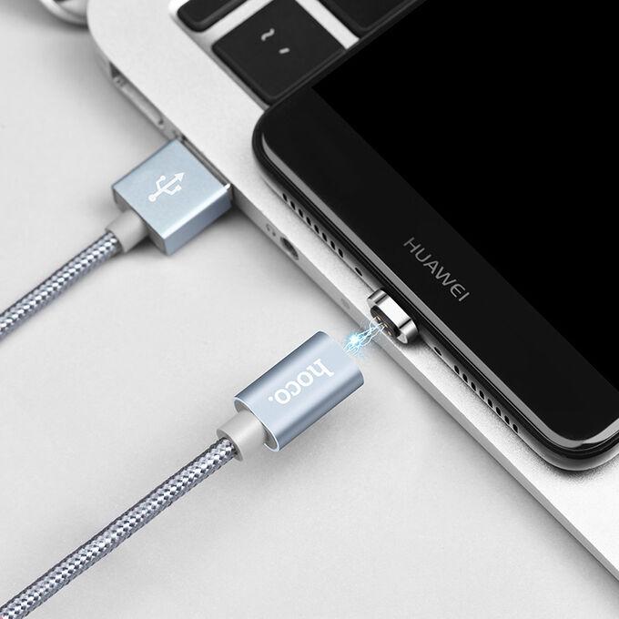 USB кабель Hoco Magnetic MicroUSB / 2.4A