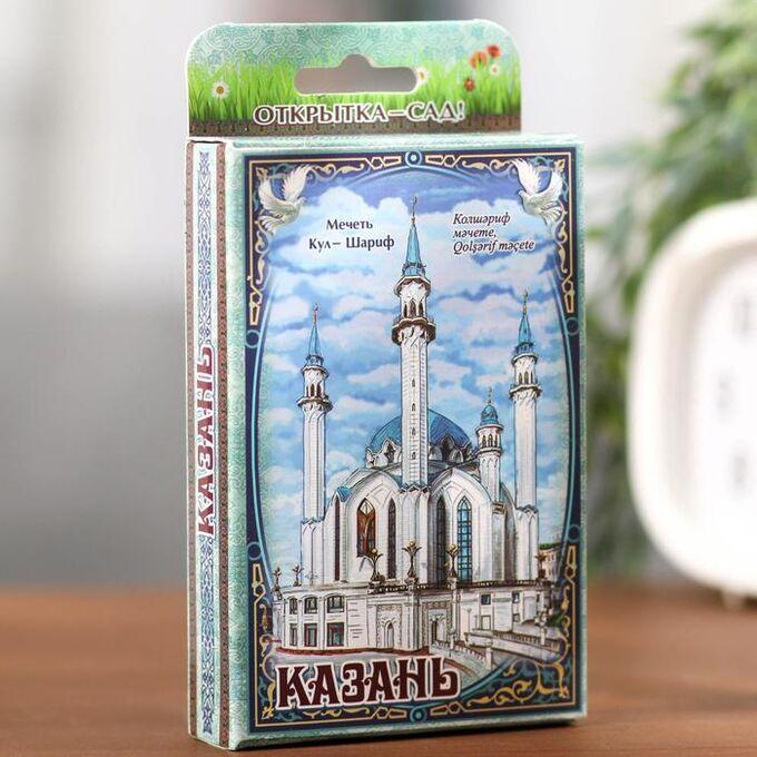 Растущая травка в открытке «Казань»