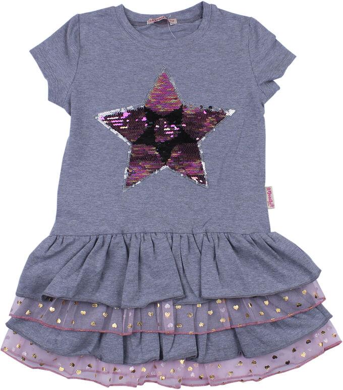 Платье для девочек (меланжевый)