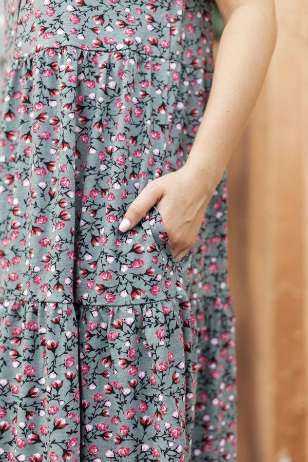 """Платье """"Кантри"""" нежный зелёный"""