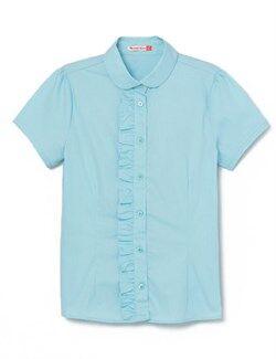 Блузка для девочки 62786-43, голубая