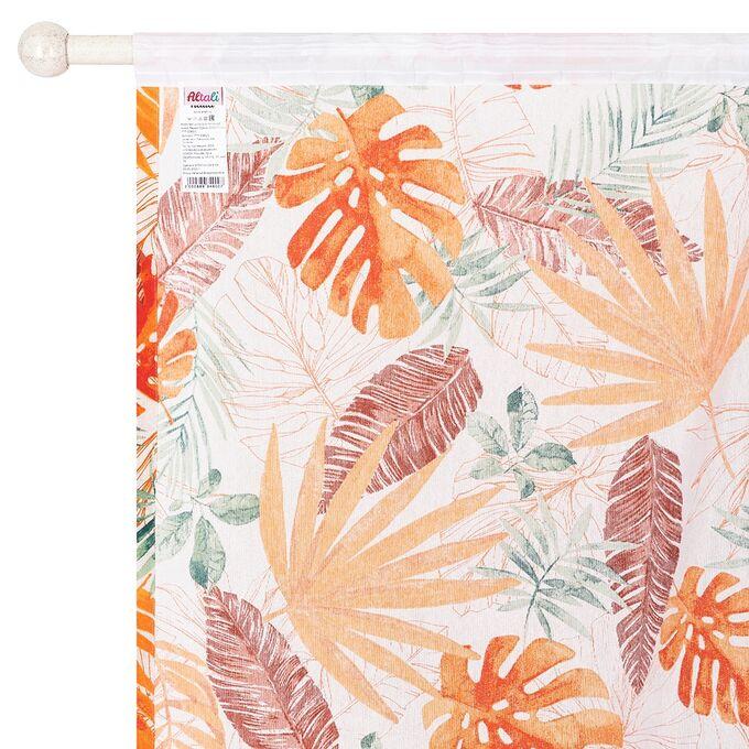 Комплект штор для гостиной, кухни Раджа Оранж 200х270 см, 777-3085/1