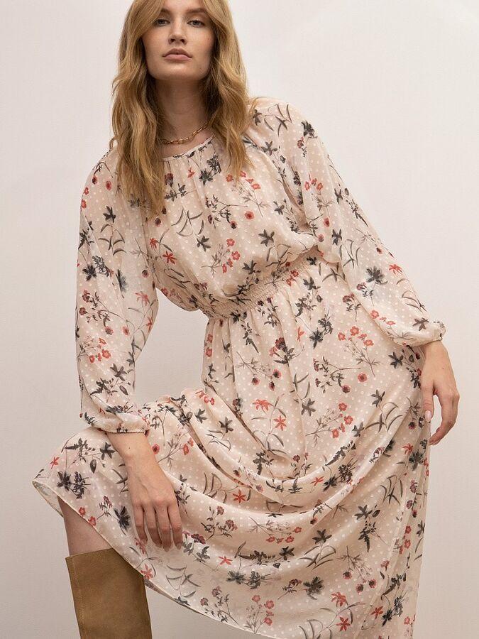 Шифоновое платье PL1120/floints