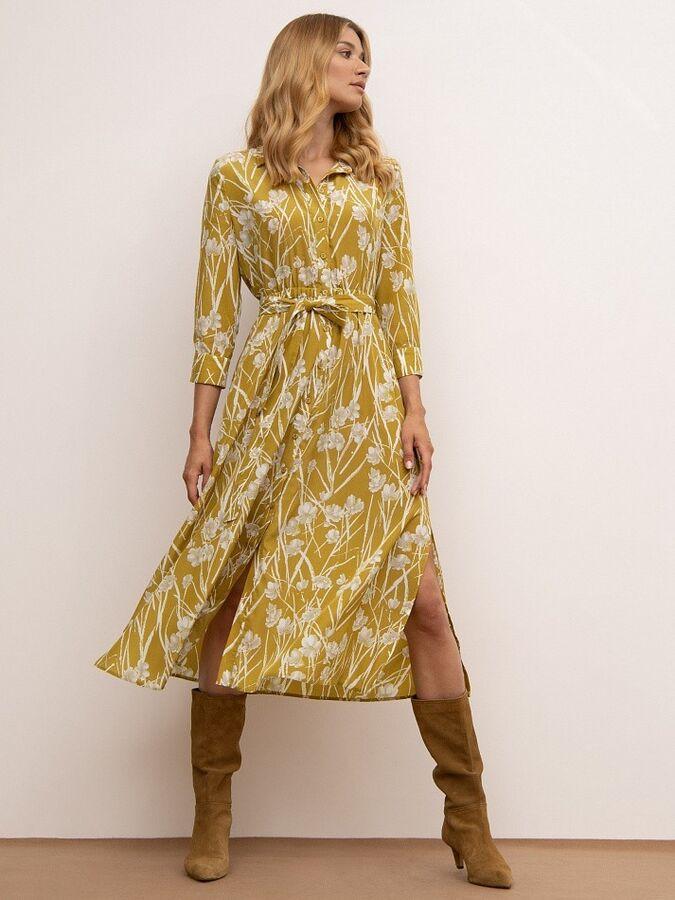 Платье рубашечного кроя PL864/flomus