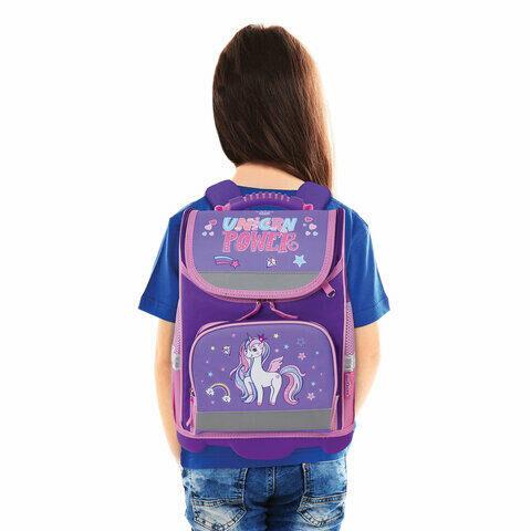Ранец ЮНЛАНДИЯ WISE для начальной школы, Unicorn power, 37х29х15 см, 228817