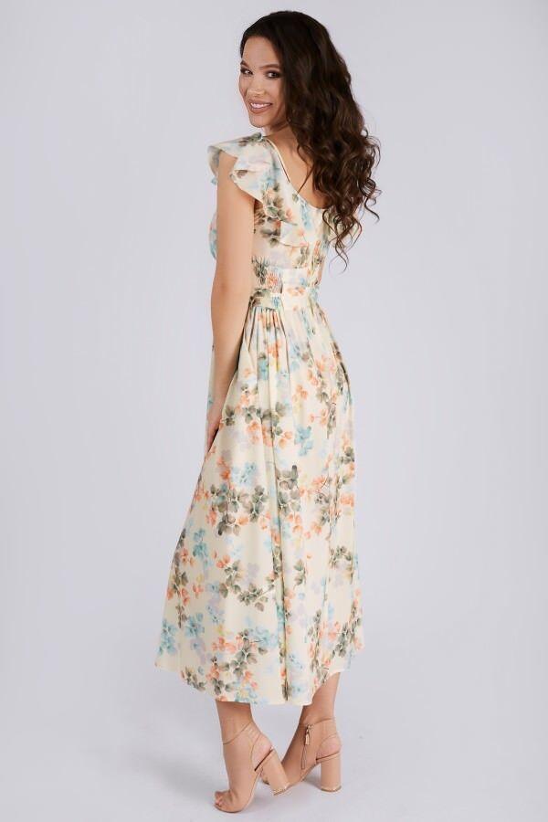 Сарафан Рост: 164 см. Состав ткани: 95% полиэстер 5% спандекс Платье женское, длинное, полуприлегающего силуэта без подкладки с карманами в боковых швах. Лиф переда цельный. Спинка разрезная с потайно