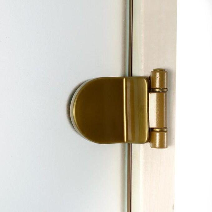 Дверь стеклянная «Сатин», размер коробки 190 ? 70 см, 2 петли, 6 мм