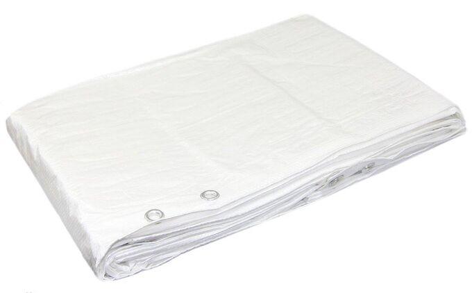Тент белый ПВХ 6x10м, плотность 140 г/м2