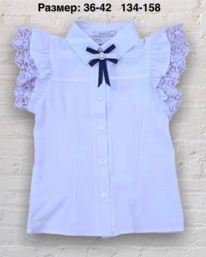 Блуза с коротким рукавом голубая