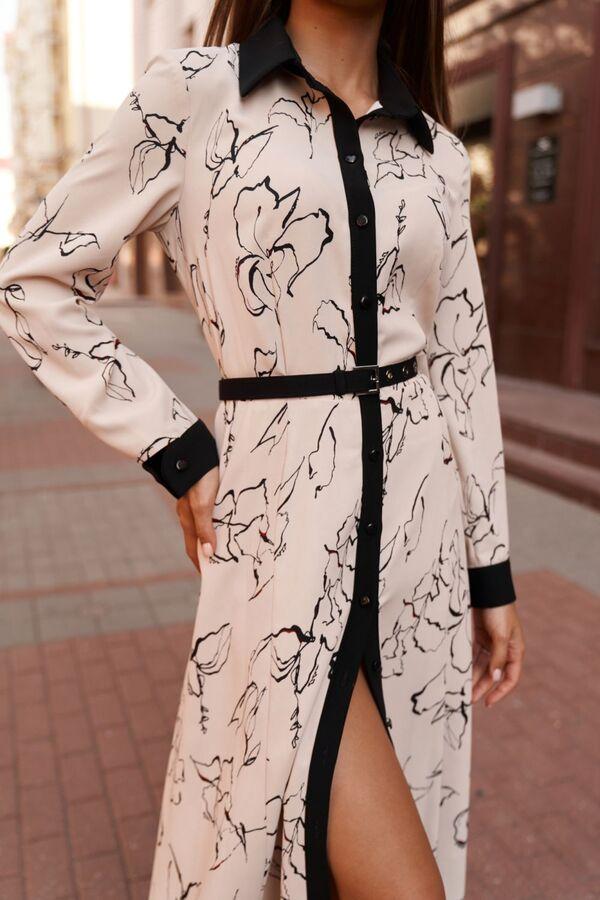 Платье Платье Vesnaletto 2753  Состав: ПЭ-100%; Сезон: Осень-Зима Рост: 164  Платье полуприлегающего силуэта, выполнено из плательной ткани.Рукав втачной, длинный, по низу с притачной манжетой. Манже