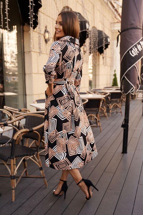 Платье Платье Vesnaletto 2727  Состав: ПЭ-100%; Сезон: Осень-Зима Рост: 164  Платье выполнено из тонкой плащевой ткани на основе хлопка, без подкладки. Отрезное по талии: по верхней части прилегающее