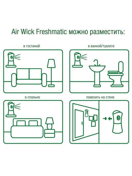 """Освежитель воздуха автомат AirWick """"Pure, Цветущая вишня"""" 250 мл"""