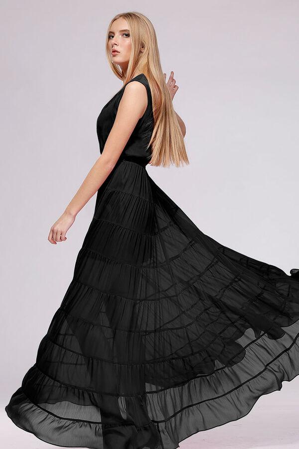 Красивое платье Балуновой, цвет - черный во Владивостоке