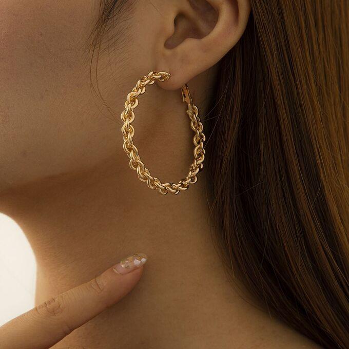 Серьги-кольца под золото, Grande Stella
